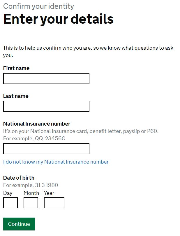 details for PERSONAL TAX ACCOUNT